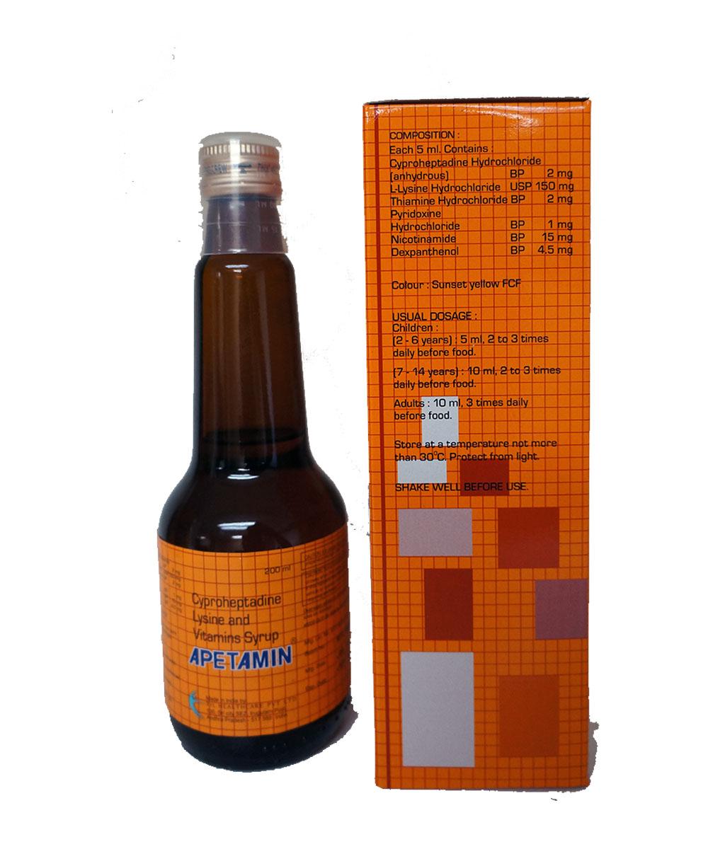 Apetamin Vitamin Syrup $19.99   Transmaw Food Services