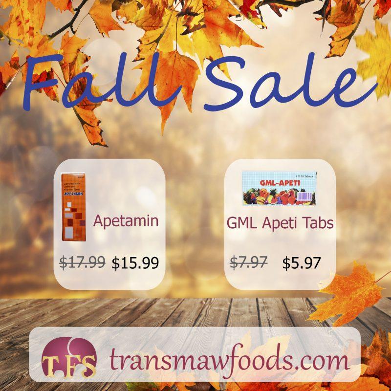 Fall Sale: Apetamin, GML Apeti