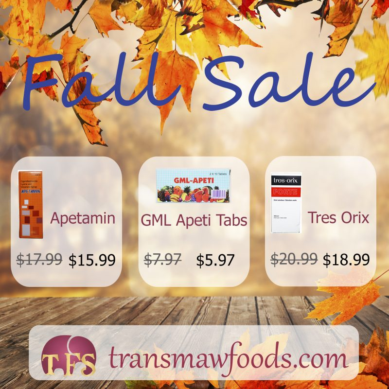 Fall Sale: Apetamin, GML Apeti, Tres Orix
