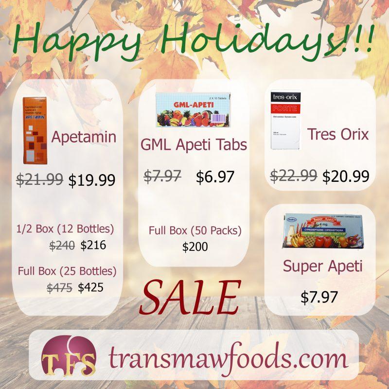 Holidays sale on Apetamin